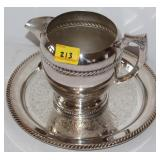 "SILVER PLATED 7"" WATER PICTURE AND TRAY"
