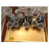 9PC JAPAN SHOT GLASSES AND DECANORS