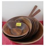 12PC WOODEN SALAD SET