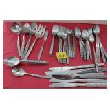ROSE FLATWARE 60PC