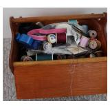 SWEING BOX AND SEWING ITEMS