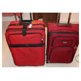 2 PC RED SUITE CASES