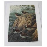 RUDDY TURNSTONES BY ROBERT BATEMAN SIGNED 197/950