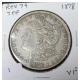 1878 REV 79 7V TF MORGAN DOLLAR  VF