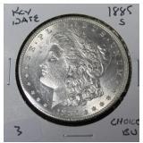 1885 S MORGAN DOLLAR CHOICE BU  KEY DATE