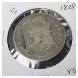 1828 BUST HALF DOLLAR  VG