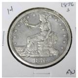 1876 S TRADE DOLLAR  AU
