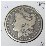 1884 O MORGAN DOLLAR  G