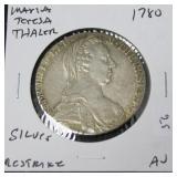 1780 AUSTRIA THALER RESTRIKE AU