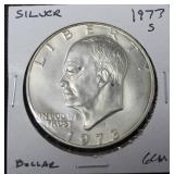 1973 S SILVER IKE DOLLAR