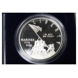MARINE CORPS PROOF SILVER DOLLAR