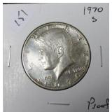 1970 S PROOF KENNEDY HALF