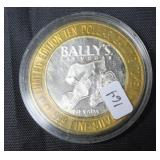 BALLYS .999 SILVER CASINO CHIP