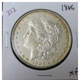 1886 MORGAN DOLLAR  XF