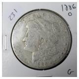 1886 O MORGAN DOLLAR  G