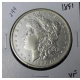 1891 MORGAN DOLLAR  VF