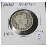 1902 BARBER QUARTER  G