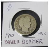 1910 BARBER QUARTER  G