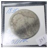 1830 BUST HALF DOLLAR  AG