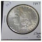 1897 MORGAN DOLLAR   CHOICE BU