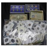GROUPING: ASSORTED COINS: FOREIGN AND DOMESTIC