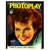 Photoplay Magazine (Earl Christy Artwork Cover)- April 1934