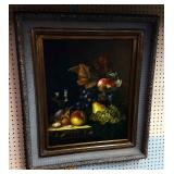 Gyclee Still Life, Framed