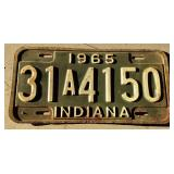 1965 IN License Plate