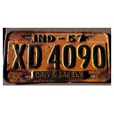 1957 IN License Plate