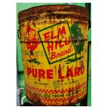 Vintage Elm Hill Lard Tin