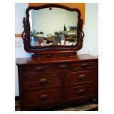 Vintage Davis Cabinet Lillian Russell Dresser/Mirror