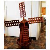 Folk Art Wooden Windmill