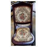 Vintage Upholstered Rocking Chair