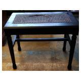 Vintage Cane Piano Bench