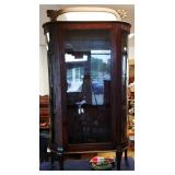 Antique Bowed Glass Cabinet