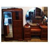 Vintage Art Deco Bedroom Suite