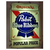 Vintage Pabst Blue Ribbon Light Up Sign