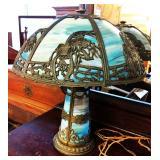OUTSTANDING Slag Glass Lamp