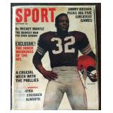 Vintage SPORT Magazine- Jim Brown Cover