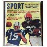 Vintage SPORT Magazine- John Unitas/Jim Brown Cover