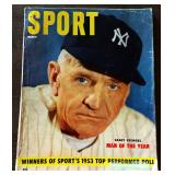 Vintage SPORT Magazine- Casey Stengel Cover