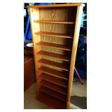 Oak CD Shelf