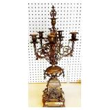 Antique Ornate Brass Candelabra