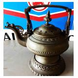 Antique Brass Lidded Pitcher