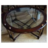 Mid-Century Glass Top Coffee Table