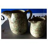 Vintage Spongeware Pitchers