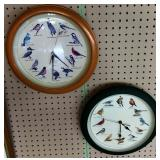 Pair of Bird Clocks