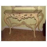 Faux Marble Top Console Table