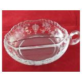 Vintage Glass Divided Nappy