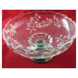 Alvin Sterling Base with Glass Serving Bowl